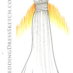 Custom Wedding Dress Sketch Order