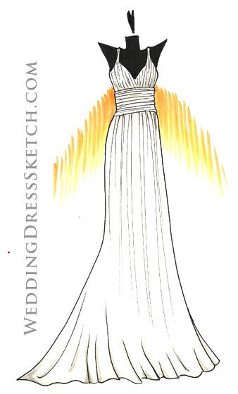 Custom Wedding Dress Sketch Order