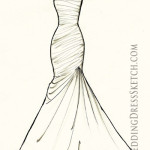 Order artwork of wedding gown