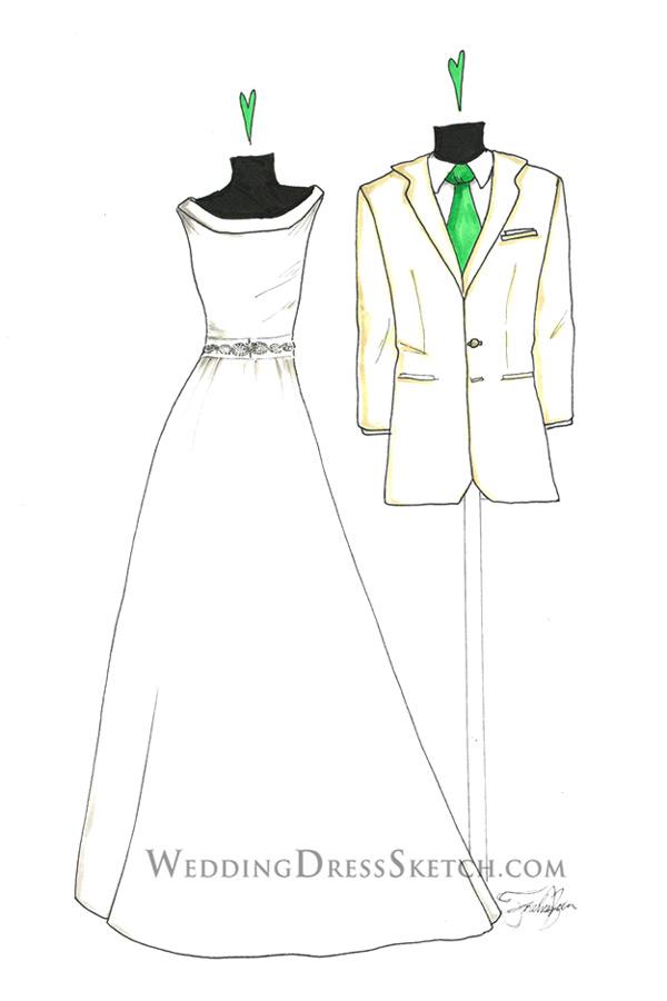 Bride & Groom Illustration Gift