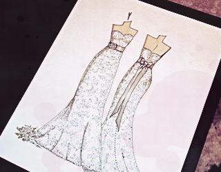 Order Wedding Dress Illustration